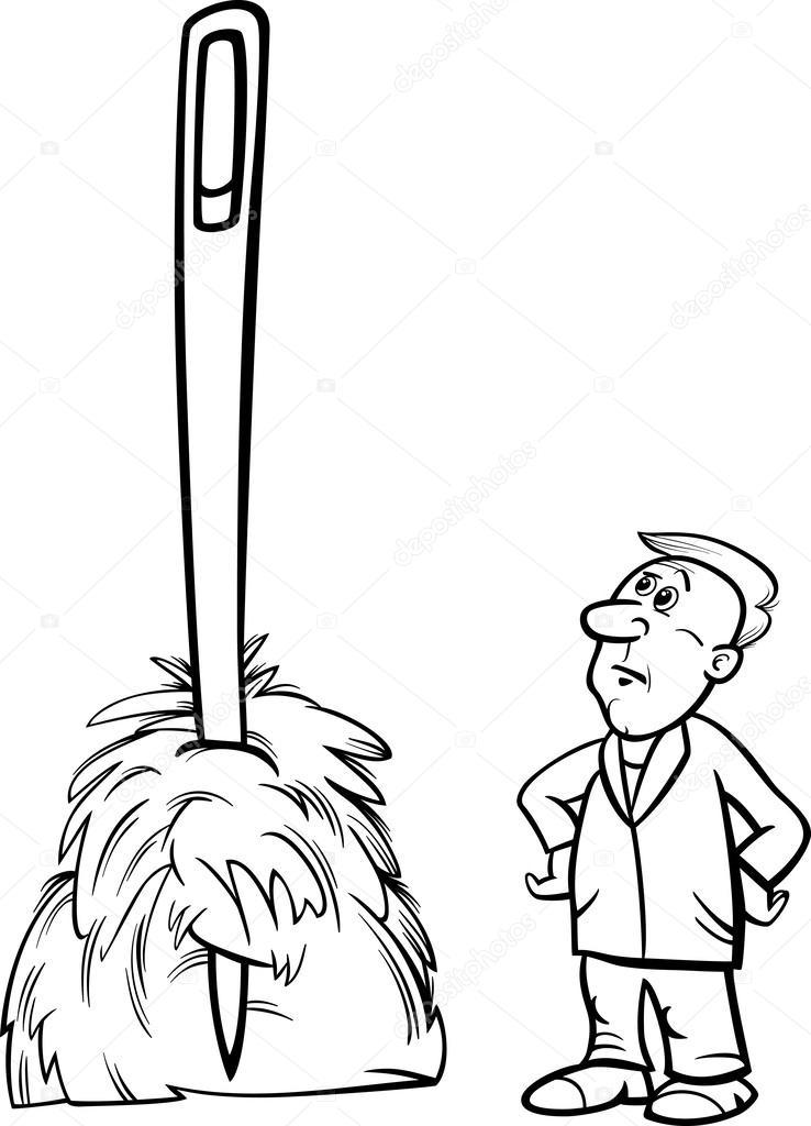 Aiguille dans une botte de foin disant caricature image vectorielle izakowski 42205217 - Une botte de foin ...