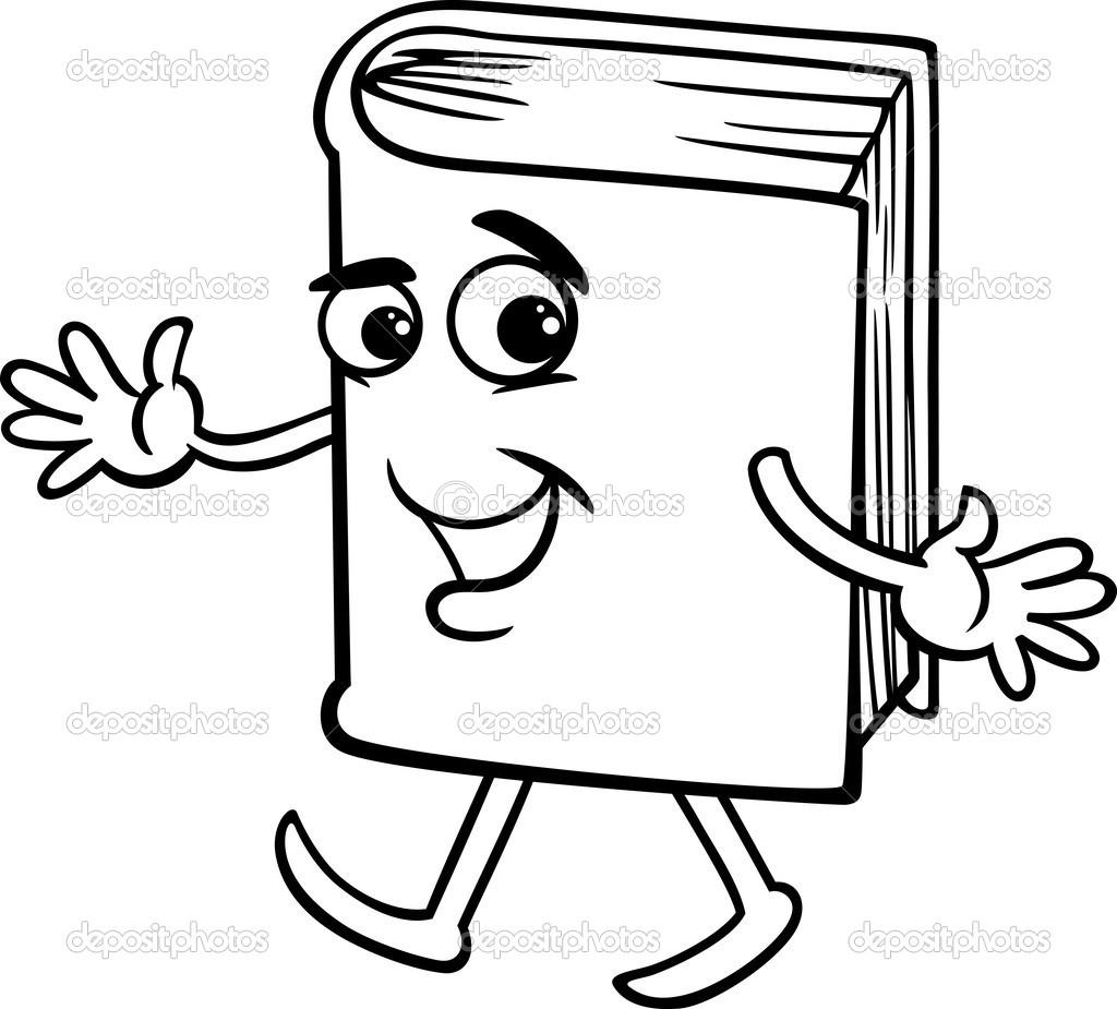 Kitap çizgi Film Boyama Sayfası Stok Vektör Izakowski 42433099