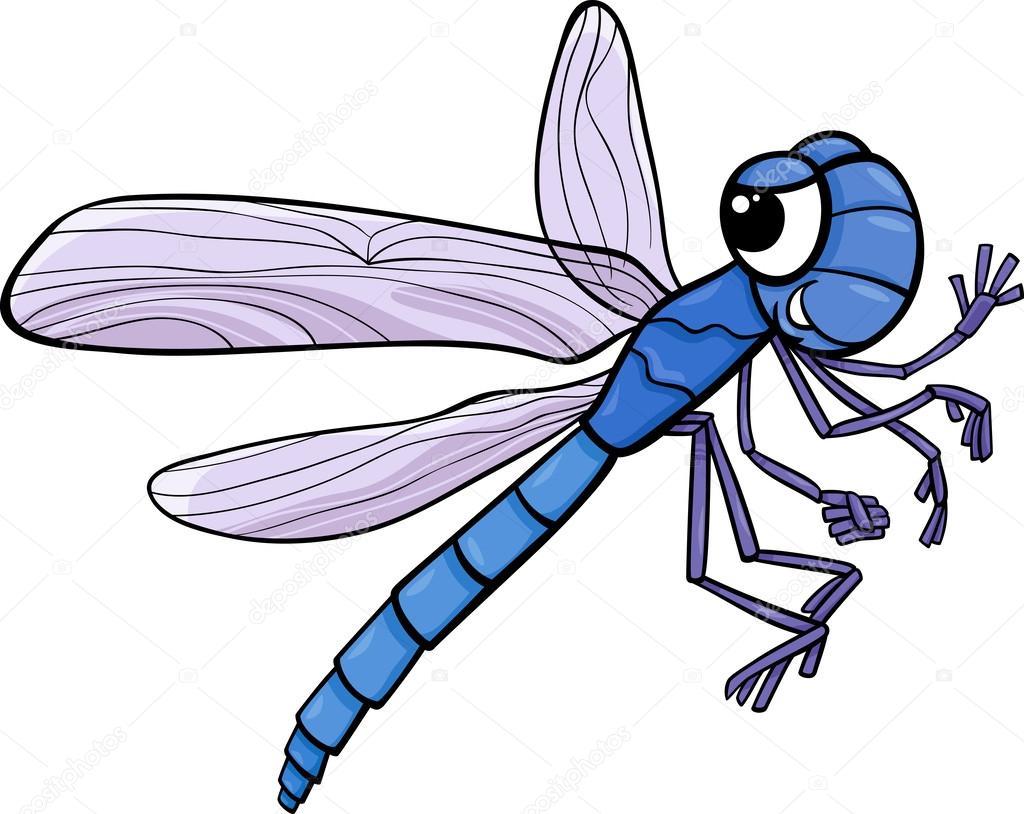 Libelle-Insekt Cartoon-illustration — Stockvektor © izakowski #42867051