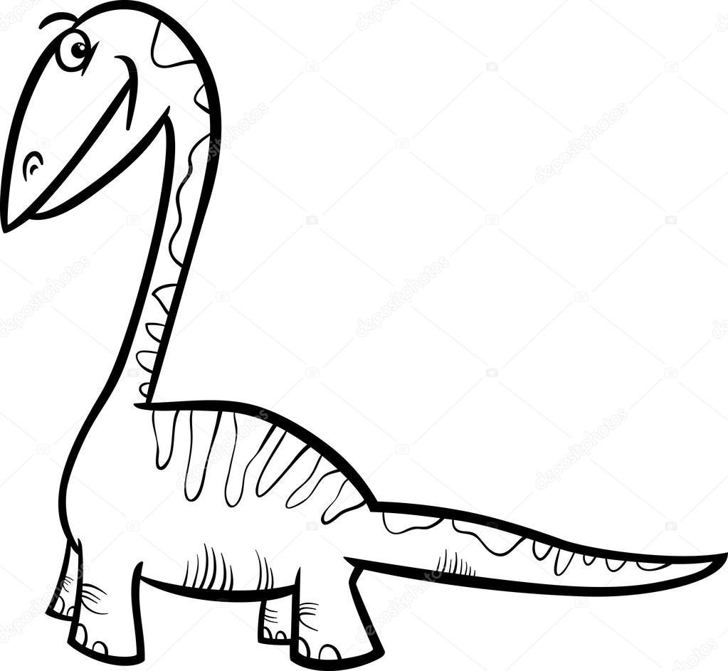 Apatosaurus Dinozor Boyama Sayfası Stok Vektör Izakowski 43254969