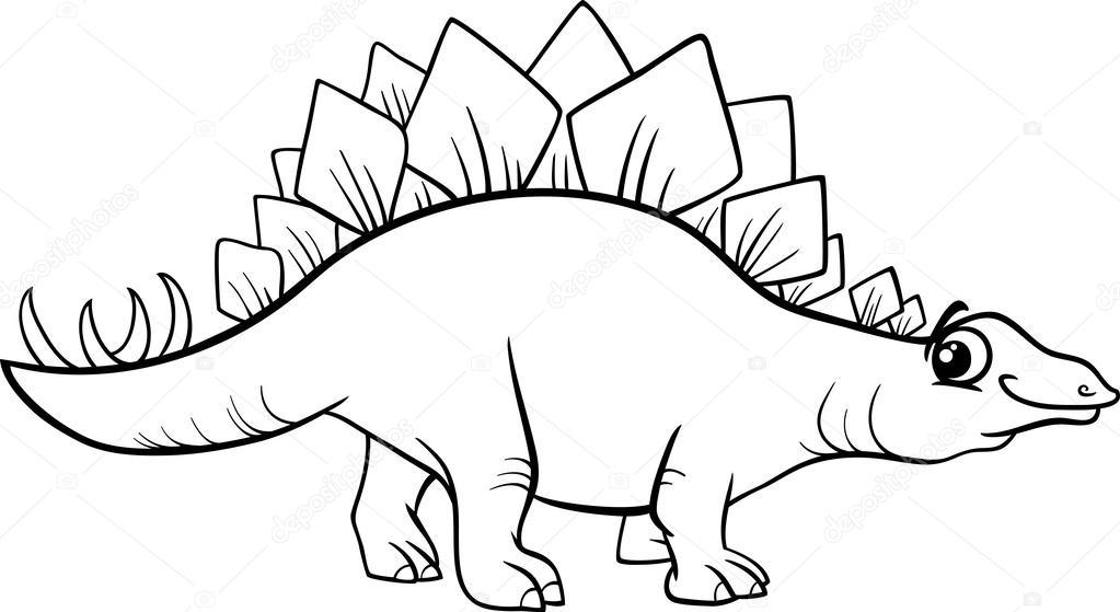 Página para colorear de Estegosaurio dinosaurio — Archivo Imágenes ...