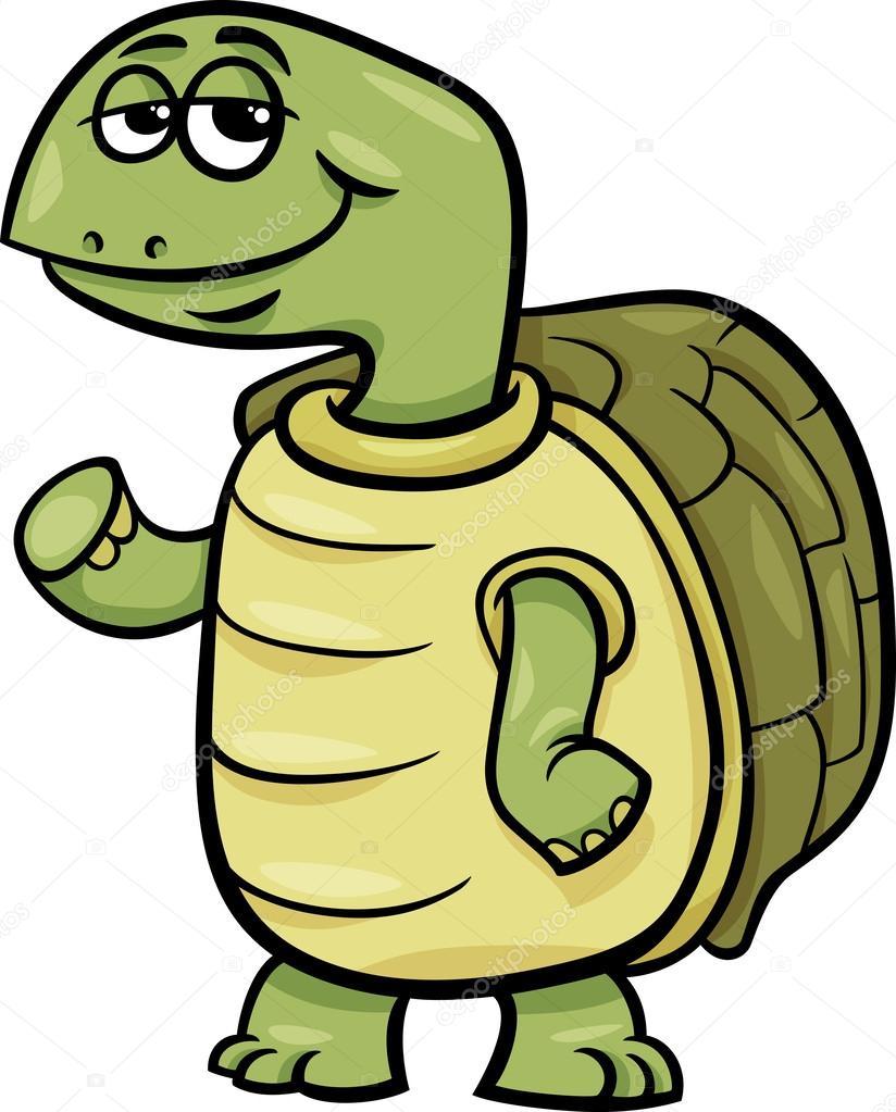 Kaplumbağa Karakter Karikatür çizimi Stok Vektör Izakowski 44276407