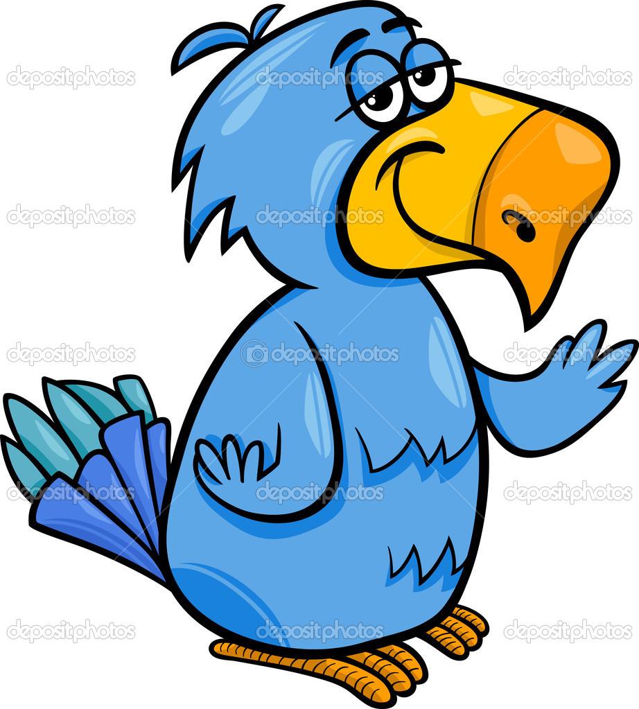 Illustration de dessin anim dr le de perroquet oiseaux image vectorielle izakowski 44333457 - Dessin calopsitte ...
