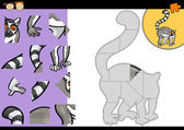 Fotografie cartoon lemur jigsaw puzzle game