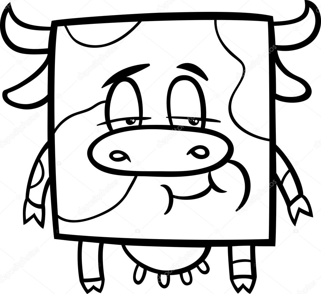 square cow cartoon coloring page u2014 stock vector izakowski 45275739