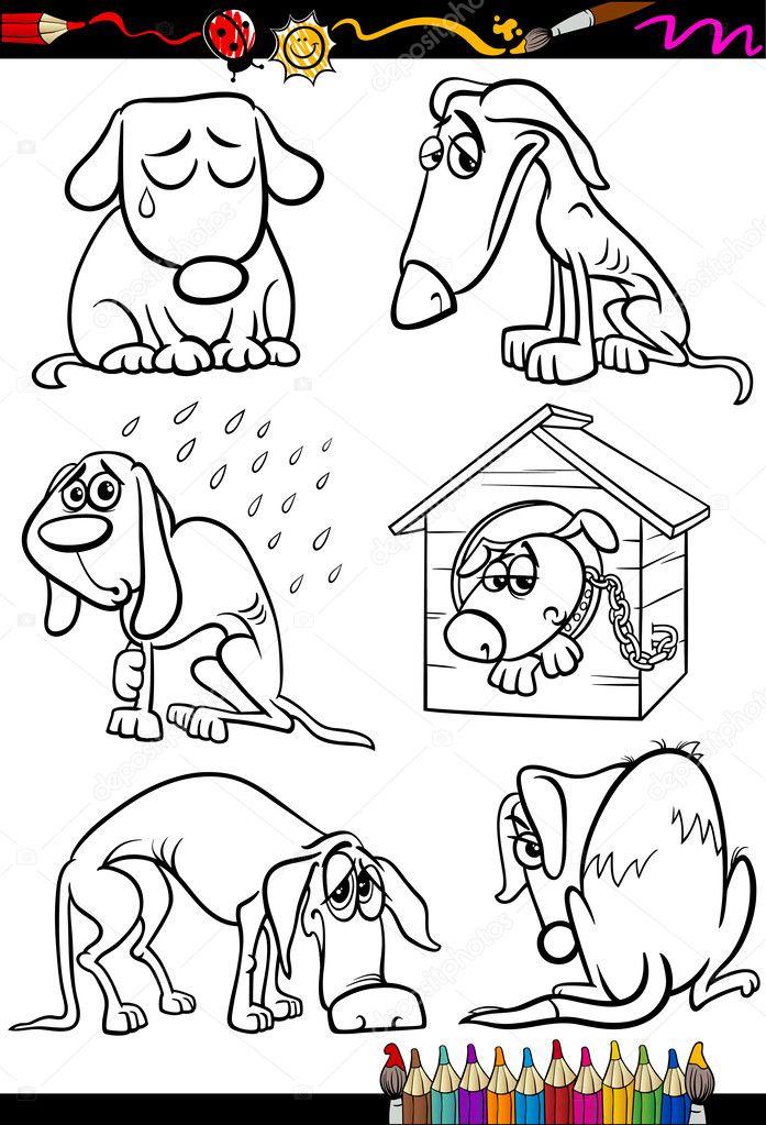 Ninos Tristes Animados Para Colorear Perros Tristes Grupo Libro