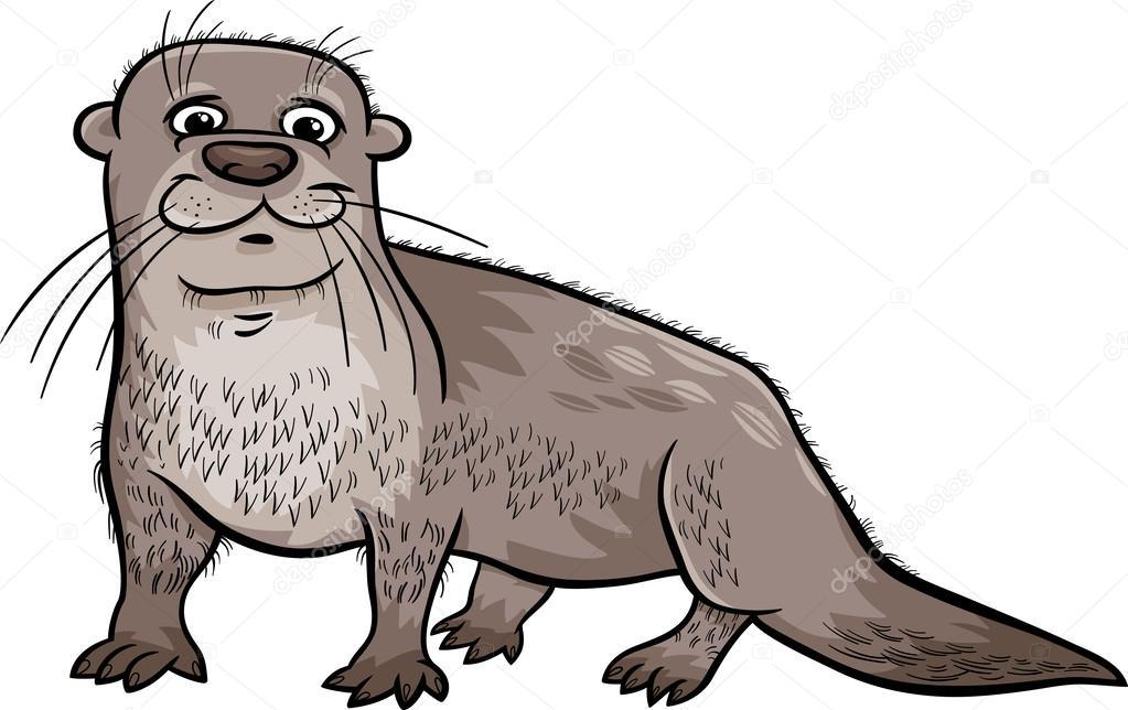 Nutria animales de dibujos animados ilustración — Archivo Imágenes ...