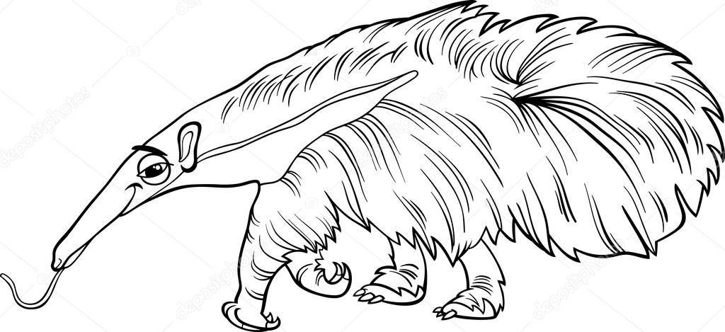Animado: oso hormiguero para colorear | libro de colorear de ...