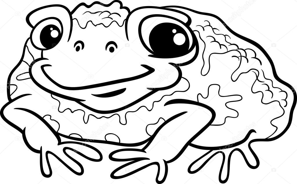 Toad color page | Toad cartoon coloring page — Stock Vector ...