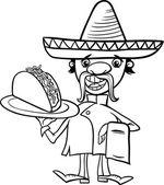 Fotografie mexikanische Chef mit Taco Färbung Seite