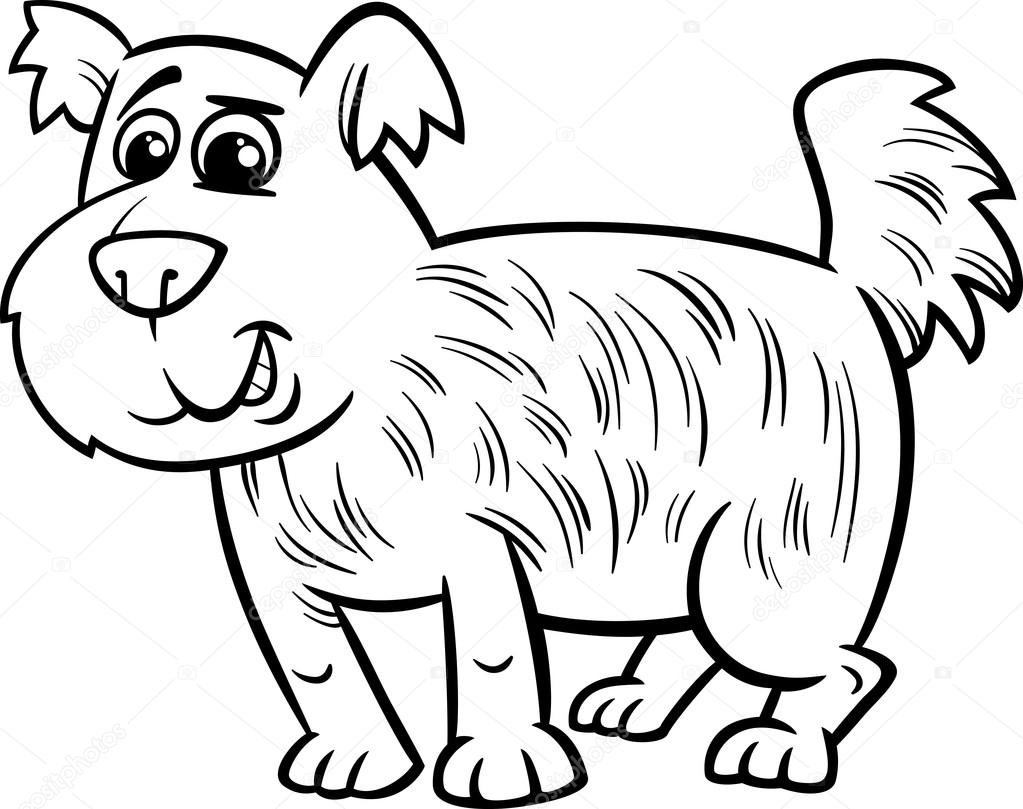 shaggy dog cartoon coloring page u2014 stock vector izakowski 48900541
