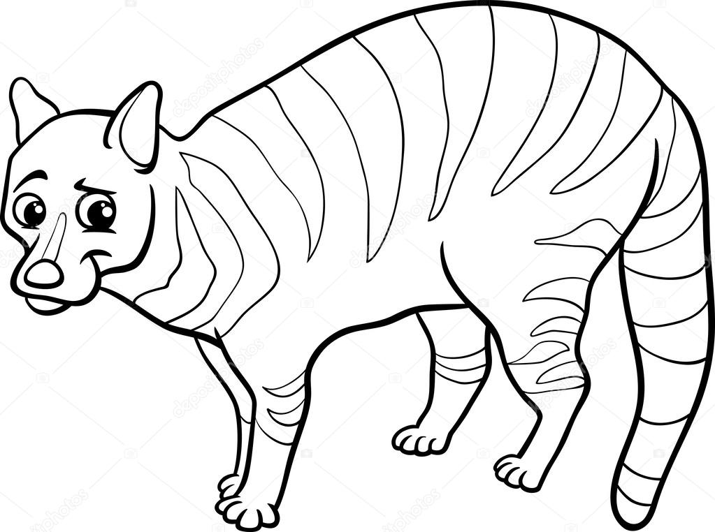 Página para colorear animales de dibujos animados de civeta ...