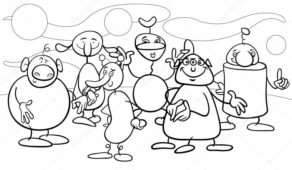 personajes de fantasía de dibujos animados para colorear página ...