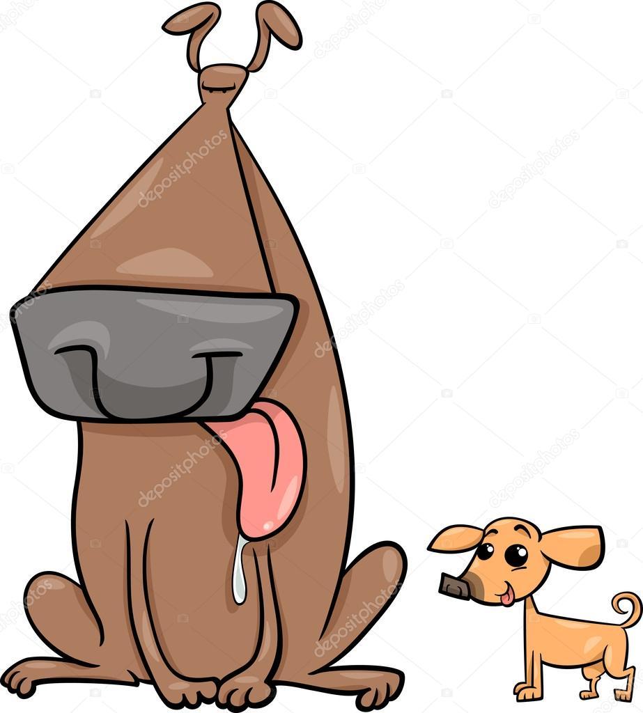 Imágenes Perros Grandes Animados Ilustración De Dibujos Animados