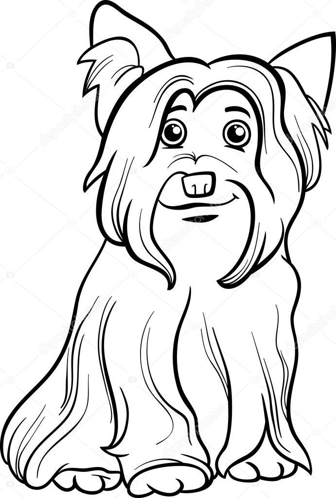 Dibujos Yorkshire Terrier Para Colorear Libro De Colorear De