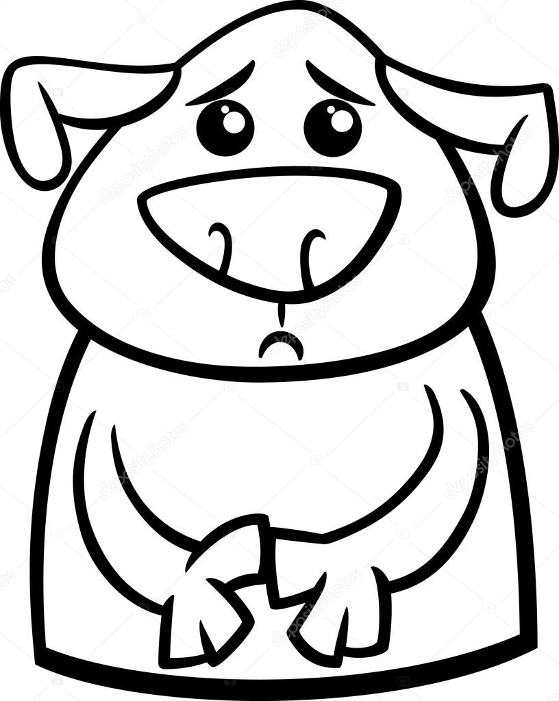 Dibujos Perro Triste Dibujo Página Para Colorear De Dibujos