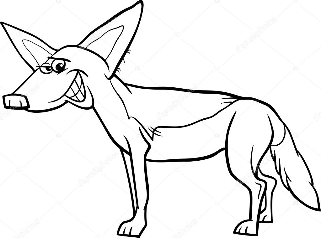 Página para colorear animales de dibujos animados de chacal ...