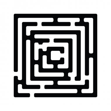 Simple black maze