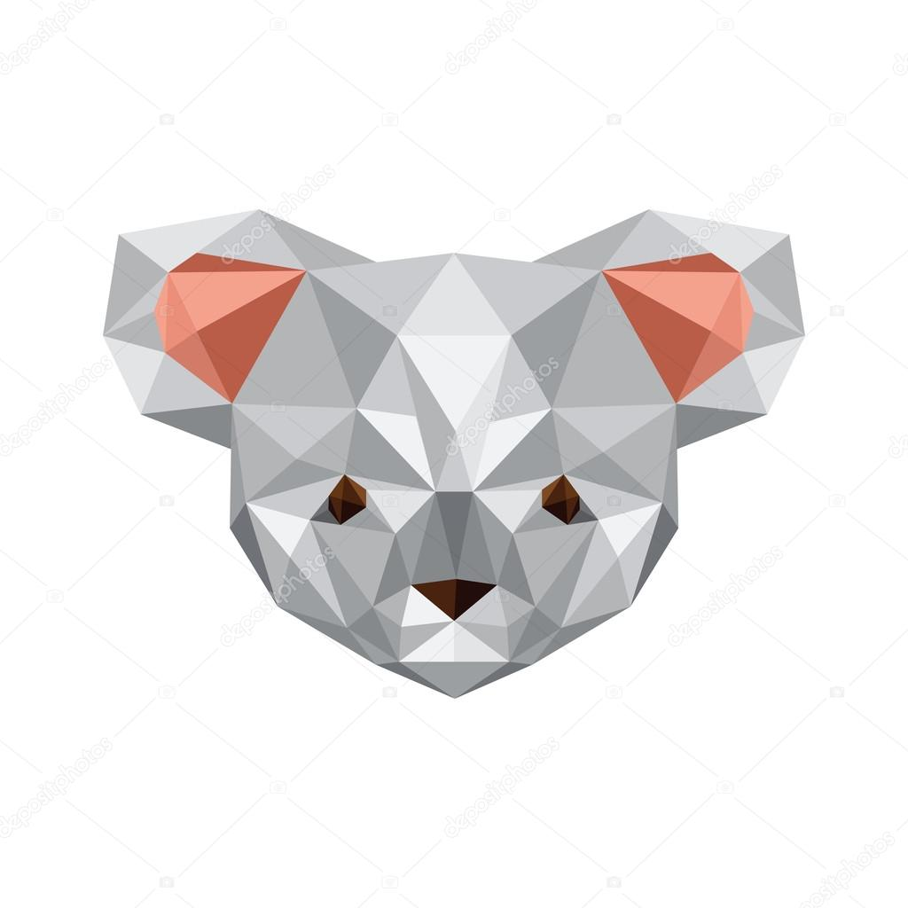 origami de oso koala — Vector de stock © dragoana23 #45218103