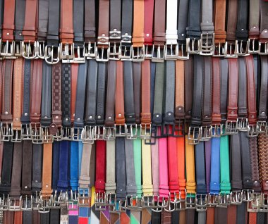 Wallpapers of colored leather belts