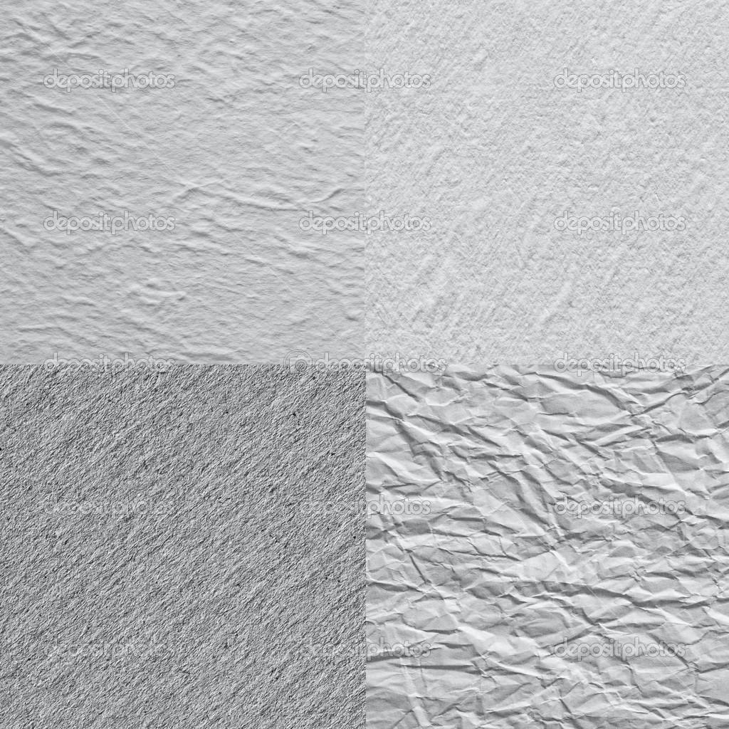 Cztery Próbki Faktura Papieru Dla Projektu Zdjęcie Stockowe