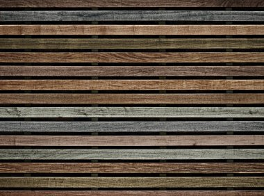 wall of wooden slats color