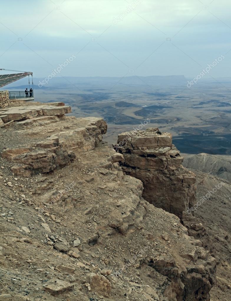 Mitzpe Ramon. Negev desert. Ramon Crater.