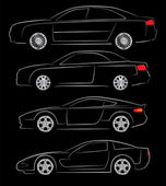 abstraktní auto siluety