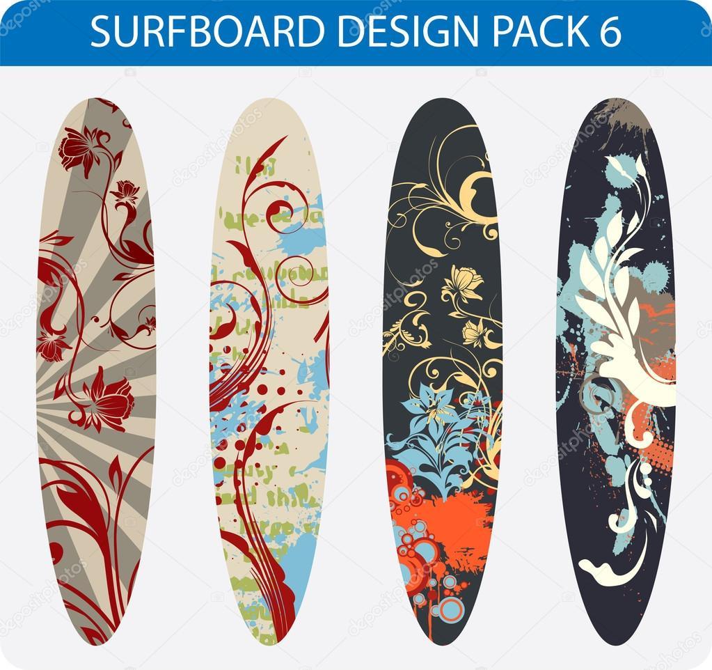 Surfboard Design Pack 6 Stock Vector C Alexciopata 18659501