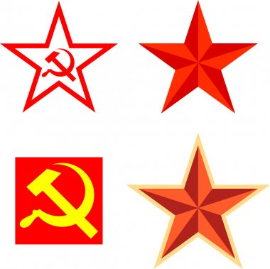 Vector pack with communism symbols icon