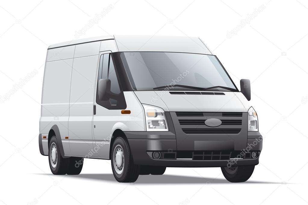Commercail transport detailed illustration