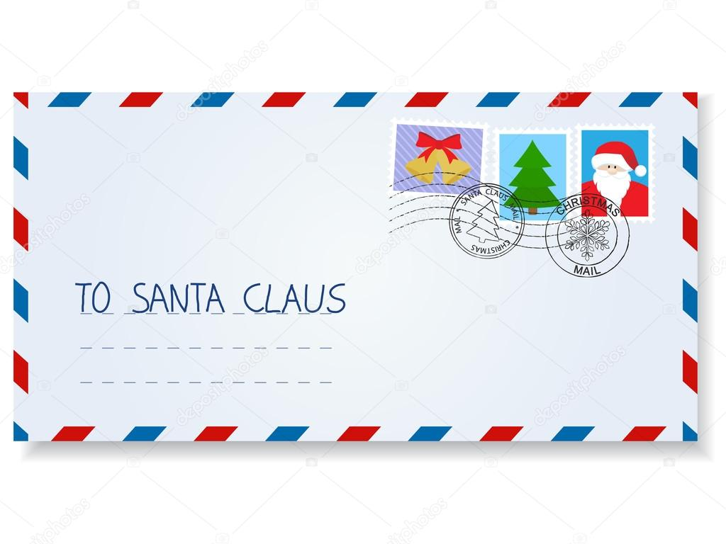 letter to santa claus — stock vector © takra #36161415
