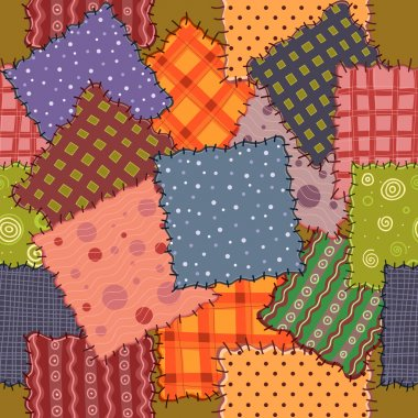 Colorful patchwork fabrics