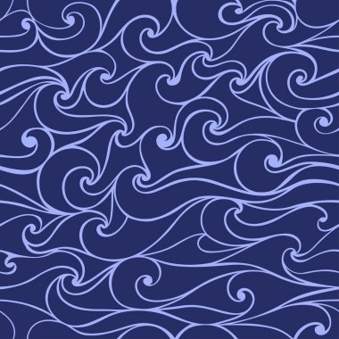 Seamless patterns with stylized wave