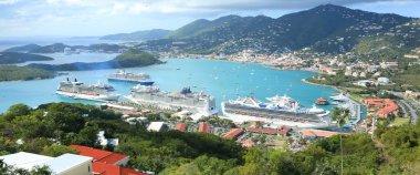 St Thomas harbor of US virgin islands