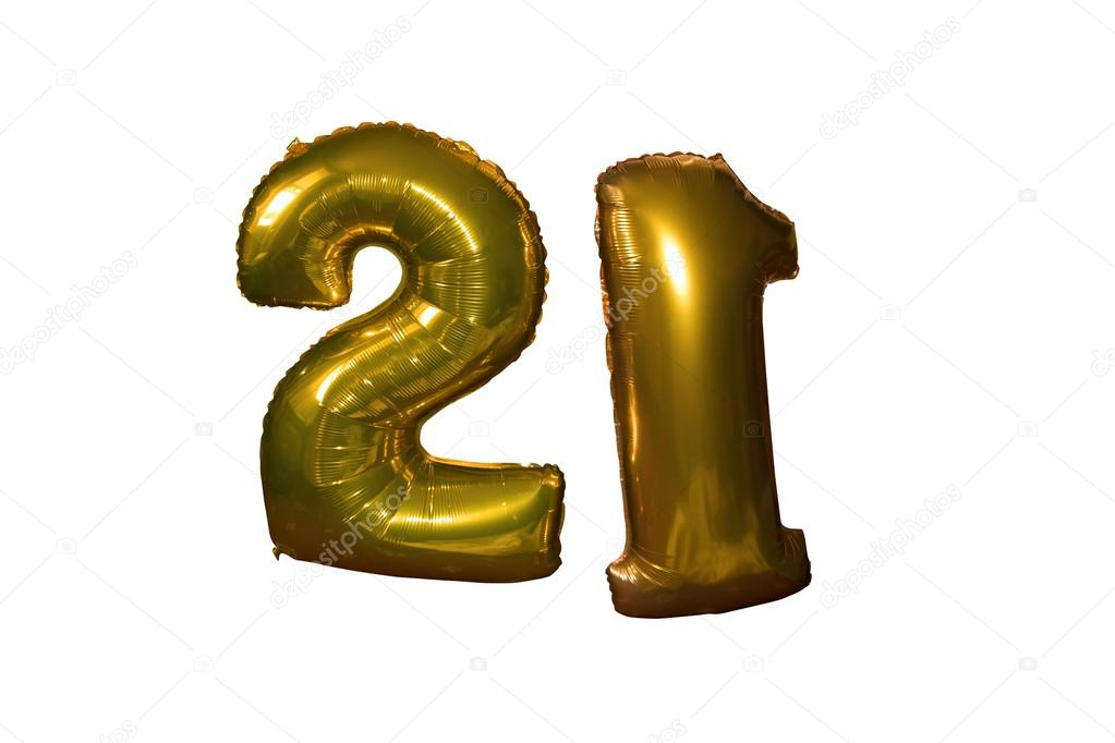 Helium Filled 21st Birthday Balloons Stock Photo