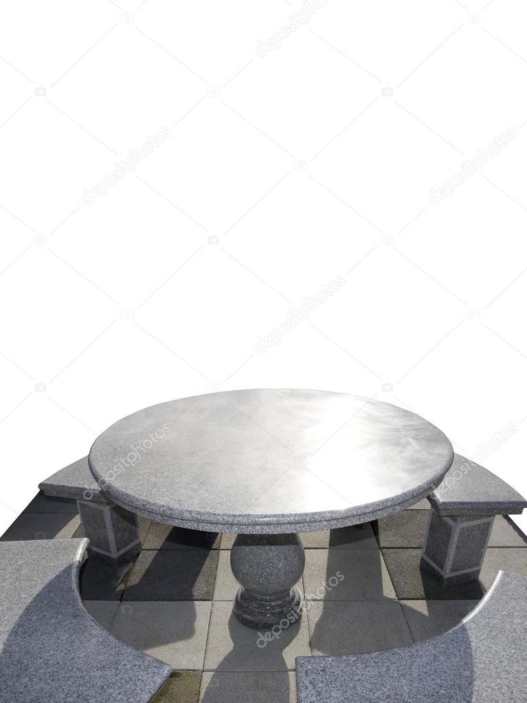 Sedie E Grande Tavolo Di Marmo Foto Stock Morrbyte 22284709