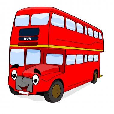 Happy cartoon bus