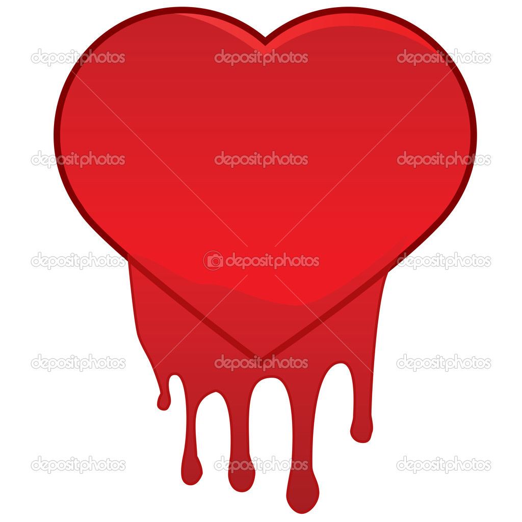 Imágenes Corazon Sangrando Corazón Sangrando Vector De Stock