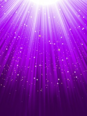 Stars on purple striped background. EPS 8