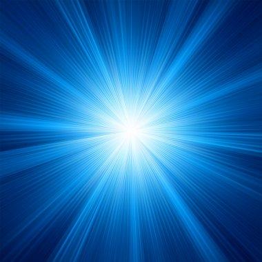A Blue color design with a burst. EPS 8