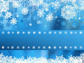 Fotografie modré Vánoce s vločka. EPS 8