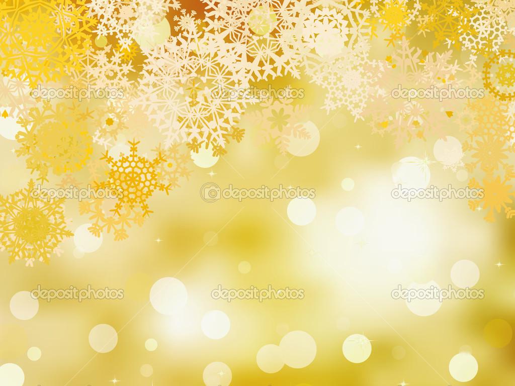 Fondo De Navidad Dorado. EPS 8