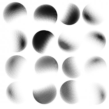Abstract halftone circle design. EPS 10