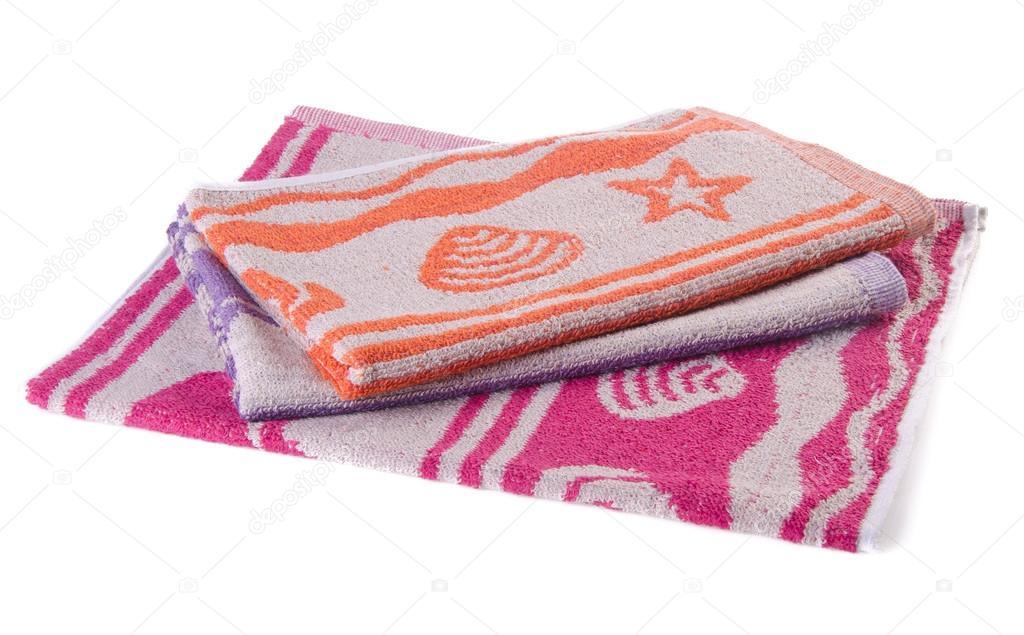 asciugamani, strofinacci da cucina su sfondo bianco — Foto Stock ...