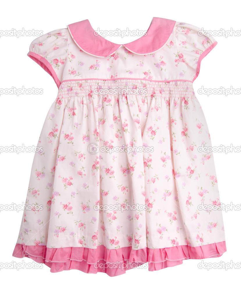 Fondo Vestido Vestido Para Niñas En Fondo Blanco Foto