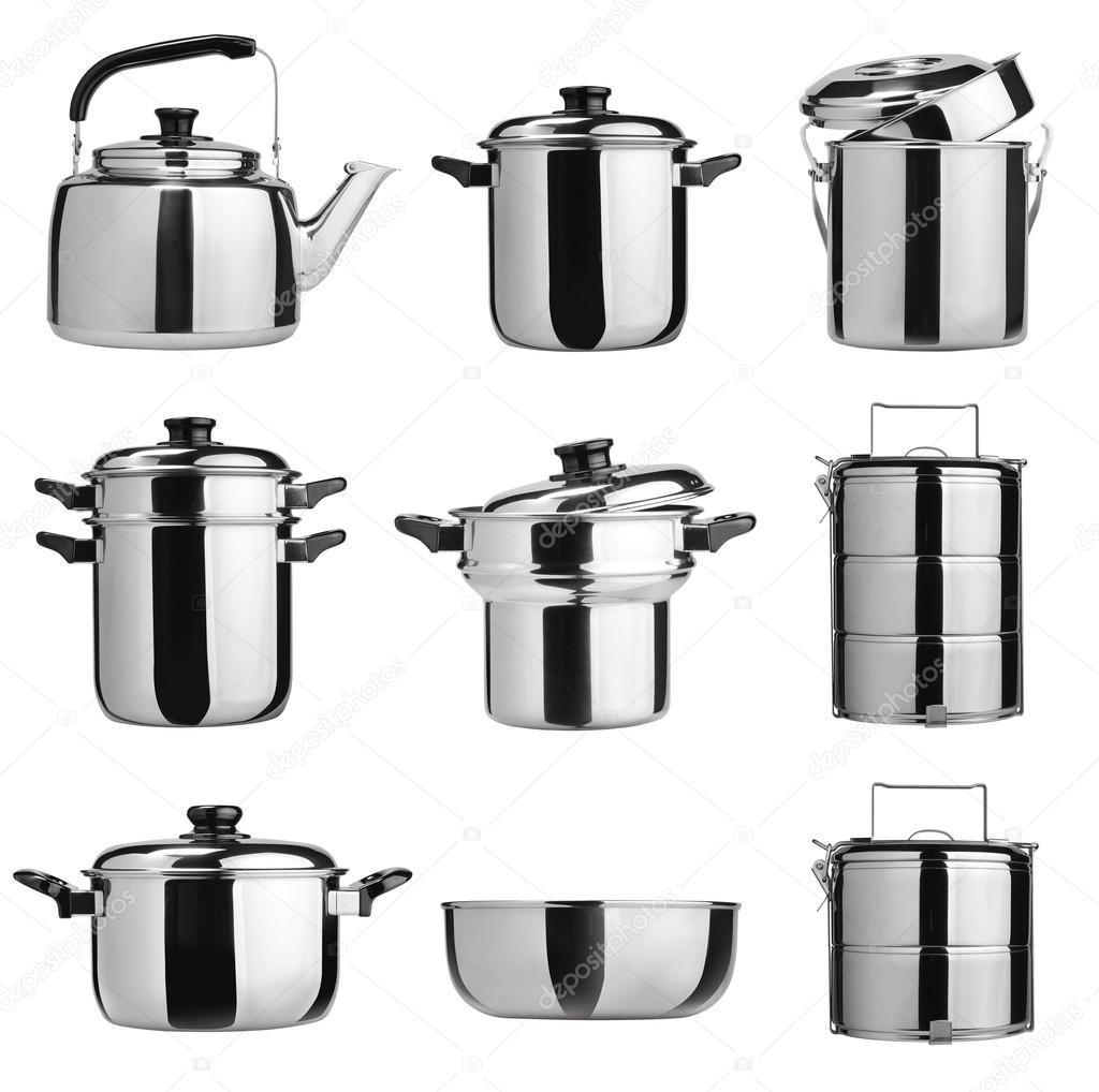 utensilios de cocina. Grupo de utensilios de cocina de acero ...