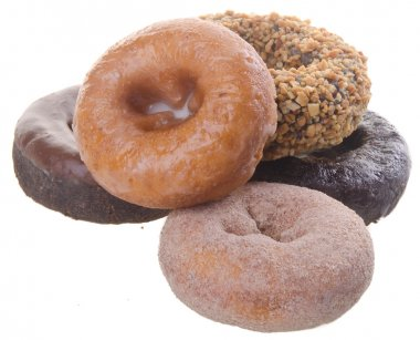 donuts. delicious and sweet donuts on background