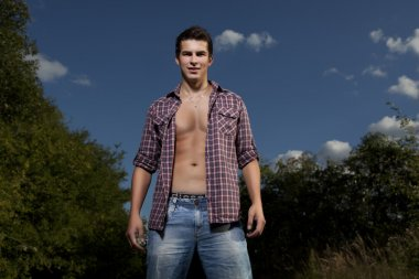 Attractive young man outdoor