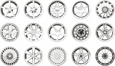 Set of a car wheel discs